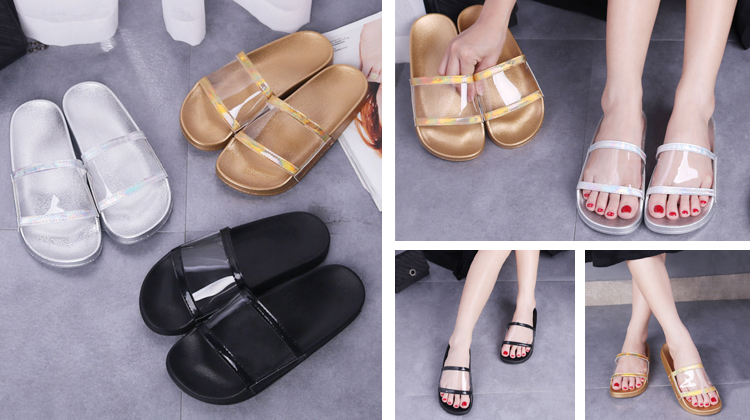 Fashion Lady Slipper 2020 Slides Footwear Transparent Shoes Women