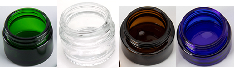 20ml 30ml 50ml 100ml clear glass 50g cream jar gallon custom with plastic caps for cosmetic