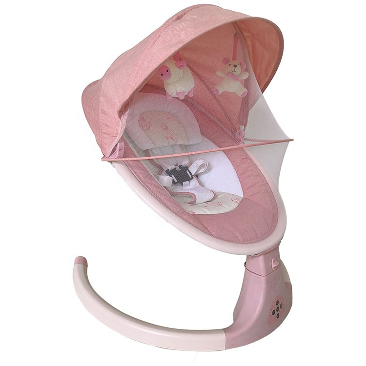 bluetooth baby swing electric baby rocker swing pink baby swing chair with music