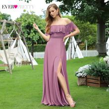 Женские розовые платья для свадьбы Ever Pretty EP00537, элегантные шифоновые платья а-силуэта с аппликацией для свадебной вечеринки(Китай)