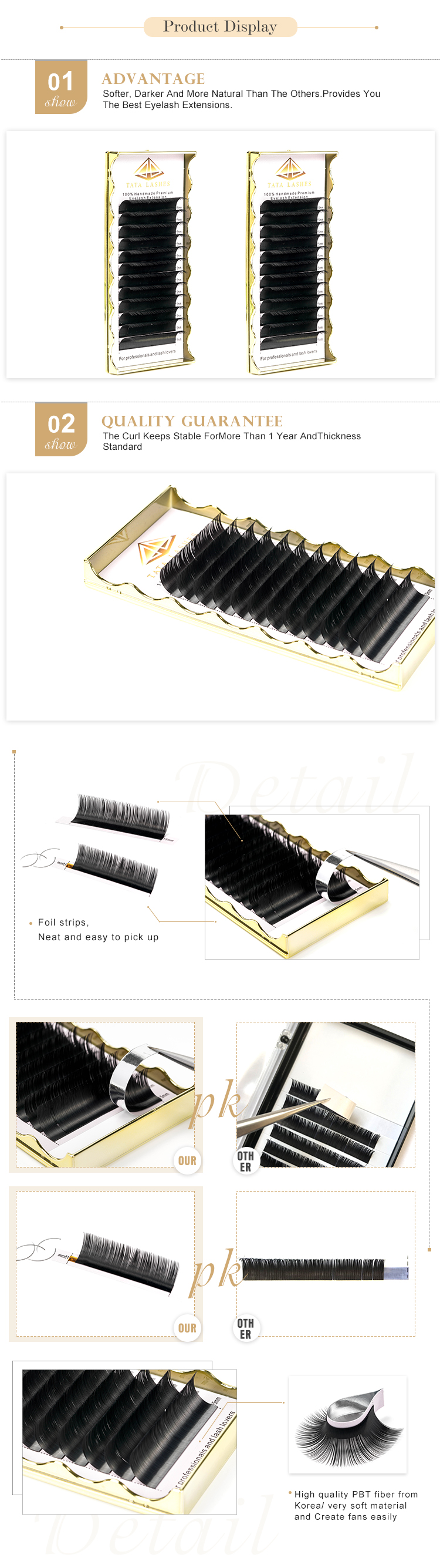 Factory eyelash extensions volume individual 3d mink eyelashes private label lashes extension suppliers