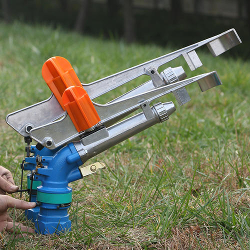 agricultural long range high pressure water irrigation system rain gun spay automatic metal sprinkler head 360 degree rotating