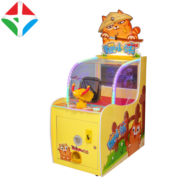 Coin Operated Game Machine Kids Super Cat Shooting Game Machine