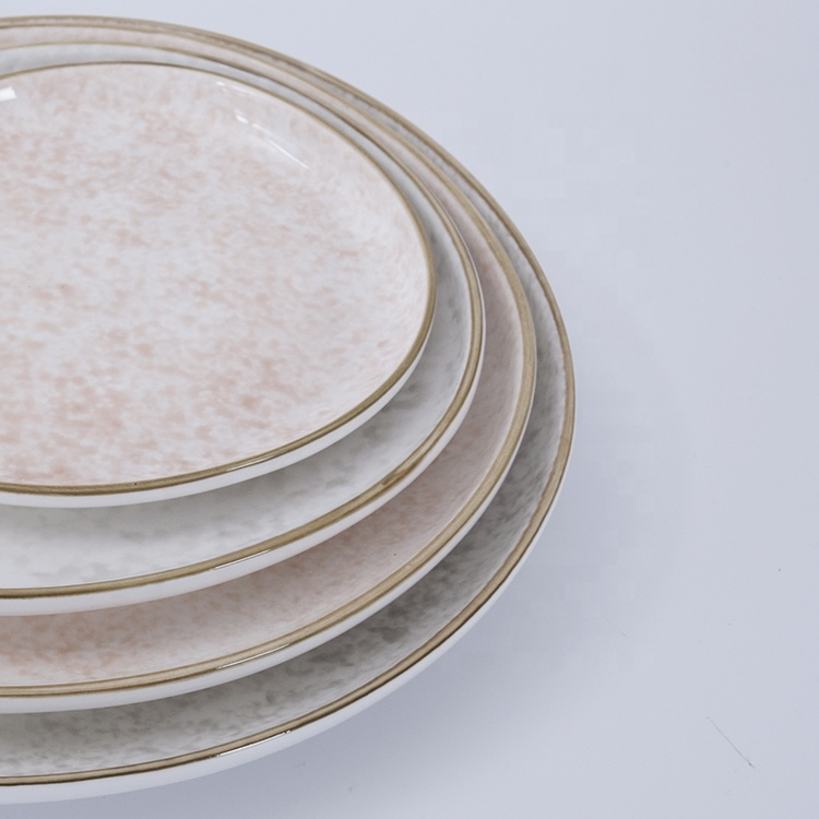 custom logo high quality glazed charger plates