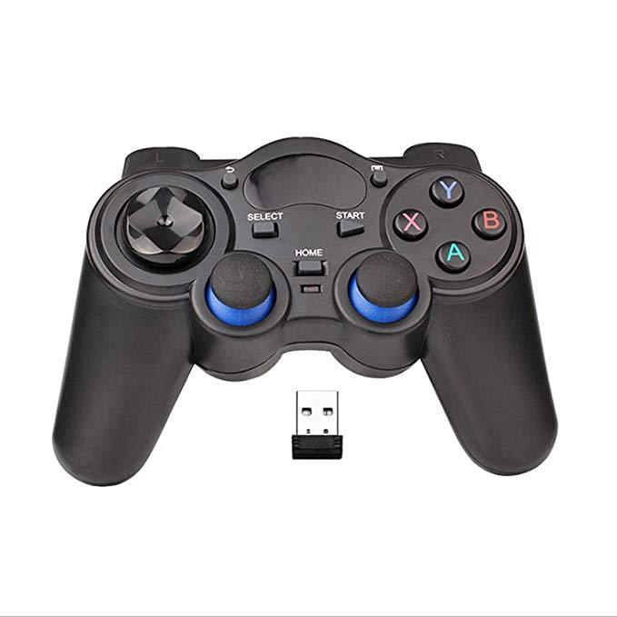 USB Wireless Gaming Controller Gamepad untuk PC/Laptop Komputer (Windows XP/7/8/10) & PS3 & Android dan Uap