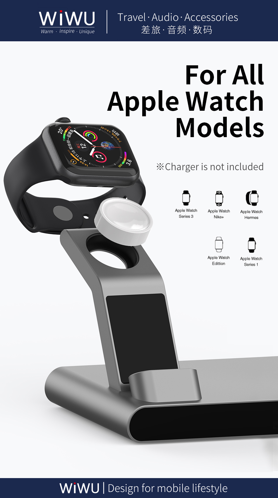 WiWU MF500 3 in 1 18W Fast Charging Stand Wireless Charger
