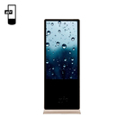 standing floor LCD touchable digital signage 55 inch ultra thin kiosk totem display lcd vertical marketing touch screen
