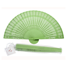 Hot-selling 8 inch Custom Chinese Sandalwood Wedding Souvenir Manual Foldable Wood Fans