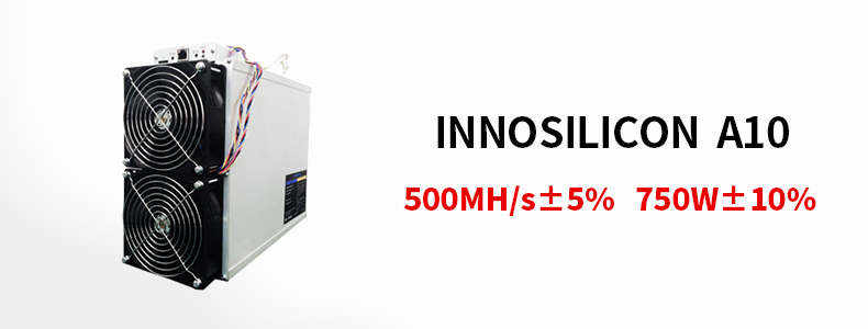 In stock Innosilicon A10 ETHmaster Innosilicon 500M A10 750W asic with power supply