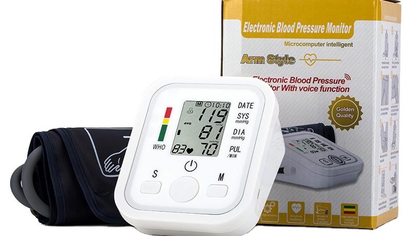 Медицинский электронный сфигмоманометр CE, светодиодный дисплей, цифровой прибор для измерения артериального давления