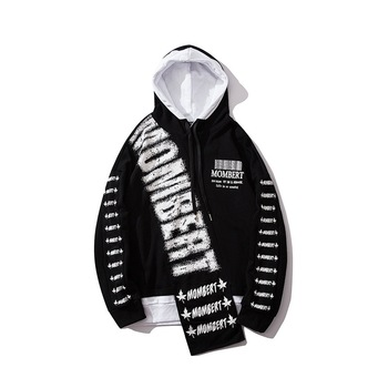 free shipping hip hop style 100 cotton sweatsuit printing custom man hoodies