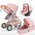 2020 Wholesale cheap travel system luxury baby stroller 3 in 1 with carrycot and carseat