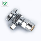 1/2 chrome plated brass water angle stop valve