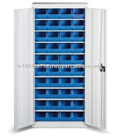 Cabinet With Plastic Storage Bins