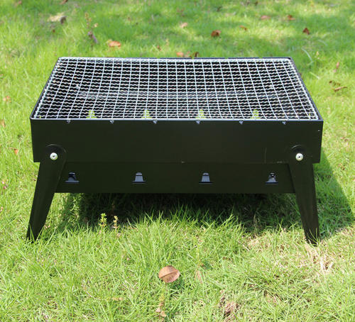 Custom heavy duty vierkante trolley houtskool barbecue tafel Outdoor houtskool bbq grills