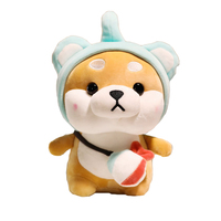 38cm Shiba Inu plush doll cute doll bed with sleeping Corgi pillow soft toys wholesale factory size and color can be customized