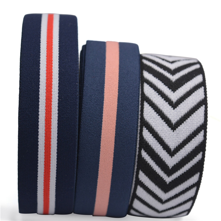 Excellent Quality Customized Stretch Elastic band  Jacquard waistband elastic