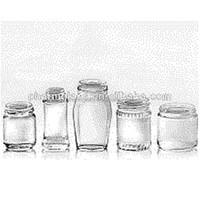 Custom design food/jam/cookie cosmetic glass jar/ bottle with screw up cap Manufacturer