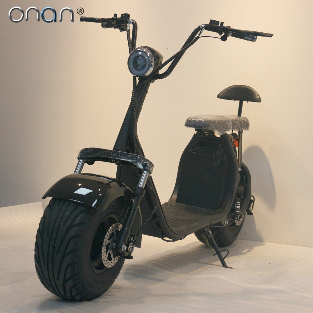 ONAN European Warehouse 2019 Europe Stock CE Motorcycle Citycoco Bike Fat Tire Adult City Coco Electric Scooter