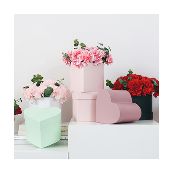Pretty Simple Mini Heart Shape Paper Box Custom Colour Flower Packaging Box For Gift