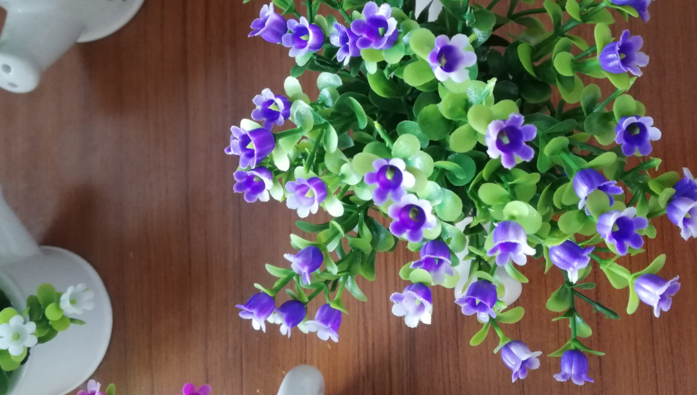 Mini Verde Amarelo Rosa Decorações de Flores Artificiais em Vasos Para Casa Indoor