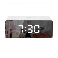 new design mirror desk clock hot selling wholesale digital alarm clock LED Backlight In Stock thermometer display table clock