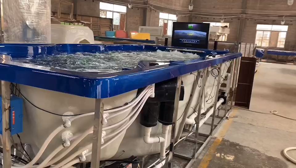 Outdoor Frestading Panas Jacuzzi Bak Mandi Besar Spa dengan Jet Bathtub Dikendalikan Komputer Bathtub Pijat 8 Orang