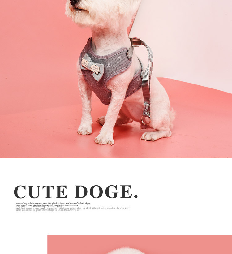 Dog Harness Vest Adjustable Soft Breathable Dog Harness cotton Mesh bow Vest Harness for Dogs Puppy Collar Cat Pet Chest Strap