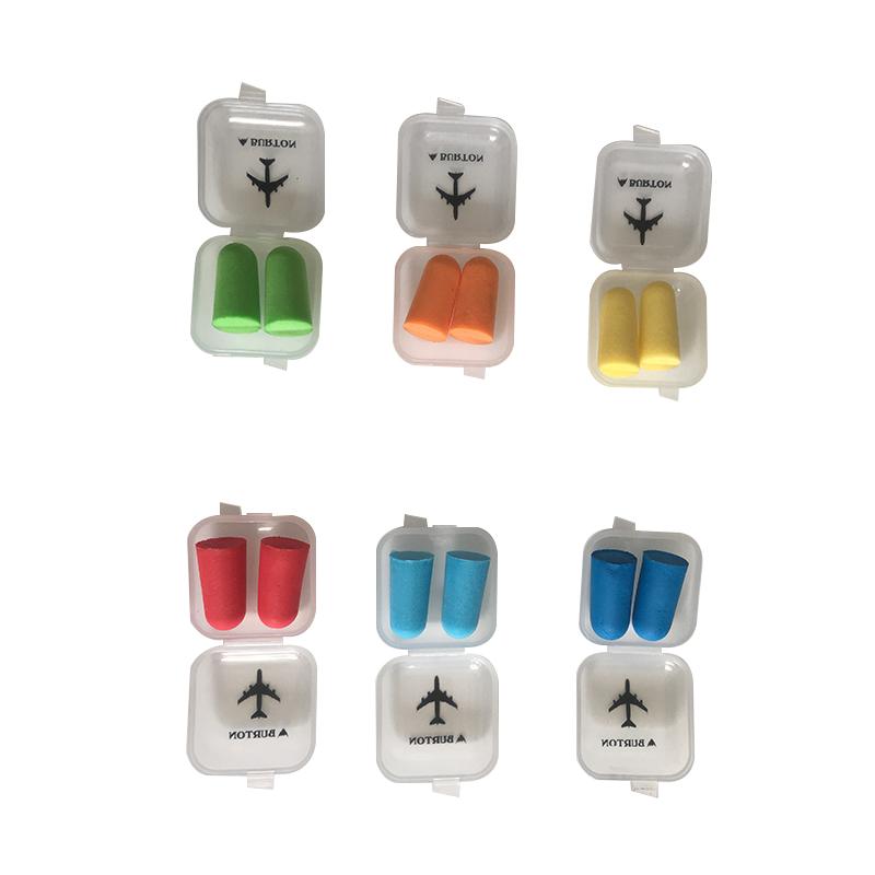 רעש מבטל לוגו מפעל Pu קצף Custom אוזן תקעים עם פלסטיק תיבת Ce RTS