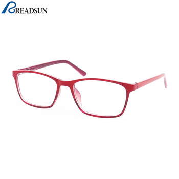 Classic red square lady glasses optical frame price optical frame for women