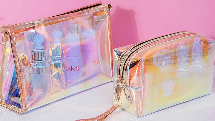Nach Farbe Premium Make-Up Rosa Pu Travel Kultur Frauen Kosmetik Tasche
