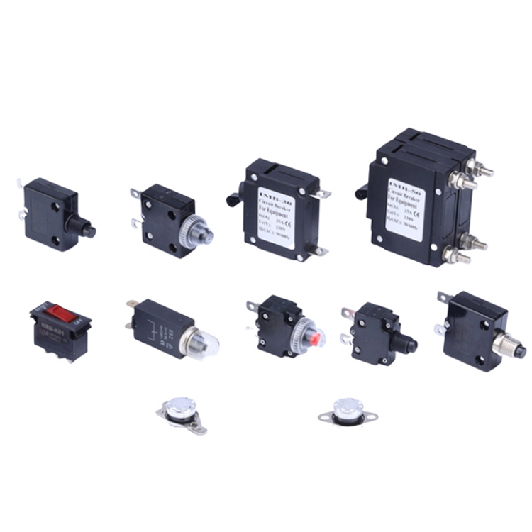 Welfnobl Universal AC 125V/250V 7A/15A Thermal Protector Thermal Circuit Breaker With Overload Protection Push Button Switch