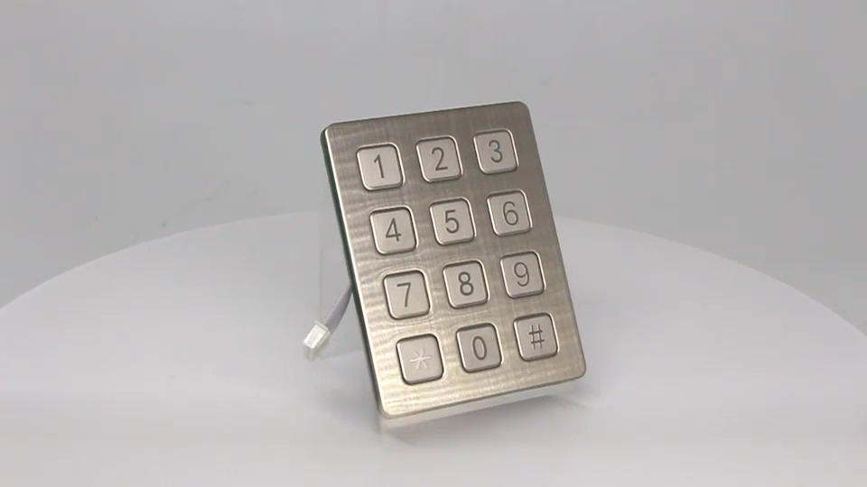 โรงงานโลหะปุ่มกด/ขายส่ง USB แป้นพิมพ์ตัวเลข/กันน้ำเครื่องหยอดเหรียญปุ่มกด