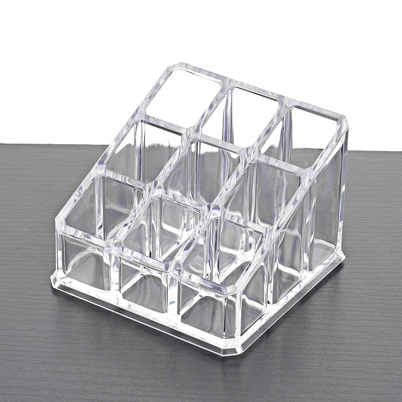 Acrylic Clear Plastic 9 Grid Lipstick Holder