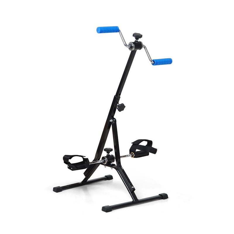 Upper and lower limb rehabilitation training device, elderly stroke hemiplegia rehabilitation training bicycle fitness machine