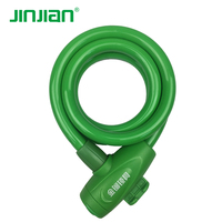 Wholesale best selling 12x1200mm cable lock for bike with assorted colors PVC coat