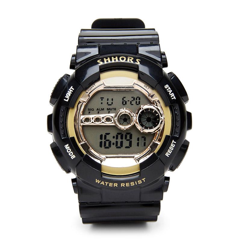 Shhors Montre 692C Numérique Étanche Alarme Fonction Chronographe-Bracelet Sport Montre Électronique