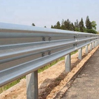 roadside galvanized guardrail highway anti crash barrier roadway metal fence