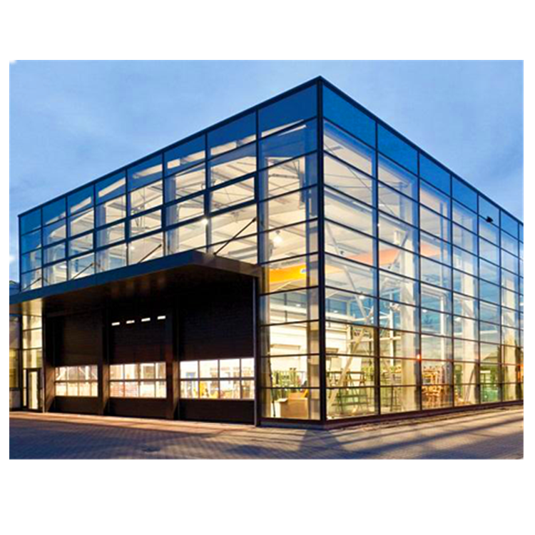 Commercial high rise building aluminum curtain wall system with tempered glass