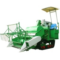 New small mini rice wheat combine harvester