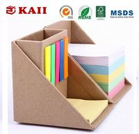 KAII Blank Memo Note Pads Sticky Note Bundle Set Including Square Note Pad and Index Flags with Kraft Box