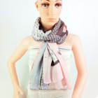 Plain winter cotton scarf for woman