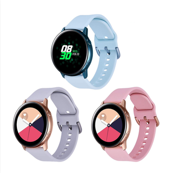 20mm 22mm Smart Watch Silicone Rubber Sport Band Replacement Strap for Samsung Gear S3 Galaxy Active