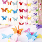 Butterfly Decorations Colorful Butterfly Hanging Garland 3D Paper Bunting Banner Party Decorations Wedding Baby Shower Home Decor Purple