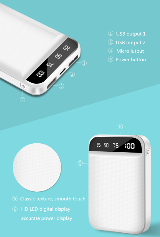 new 2019 trending product mini portable powerbanks 20000mAh double USB high capacity goingpower power bank