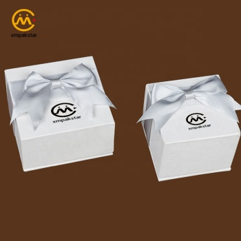 Custom logo printed high quality jewelry gift packaging decoration cardboard box with lid