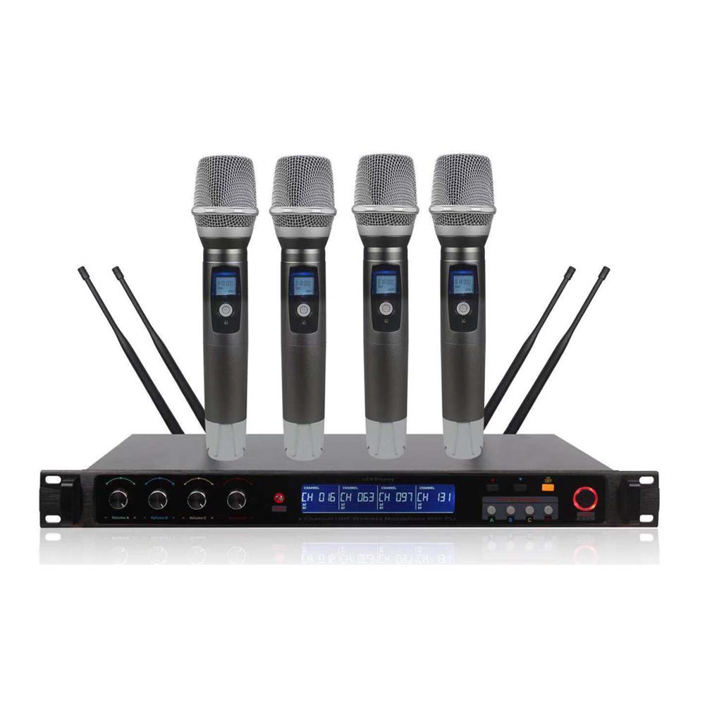 Frekuensi Disesuaikan Dipilih Empat Saluran Mikrofon Stereo Nirkabel