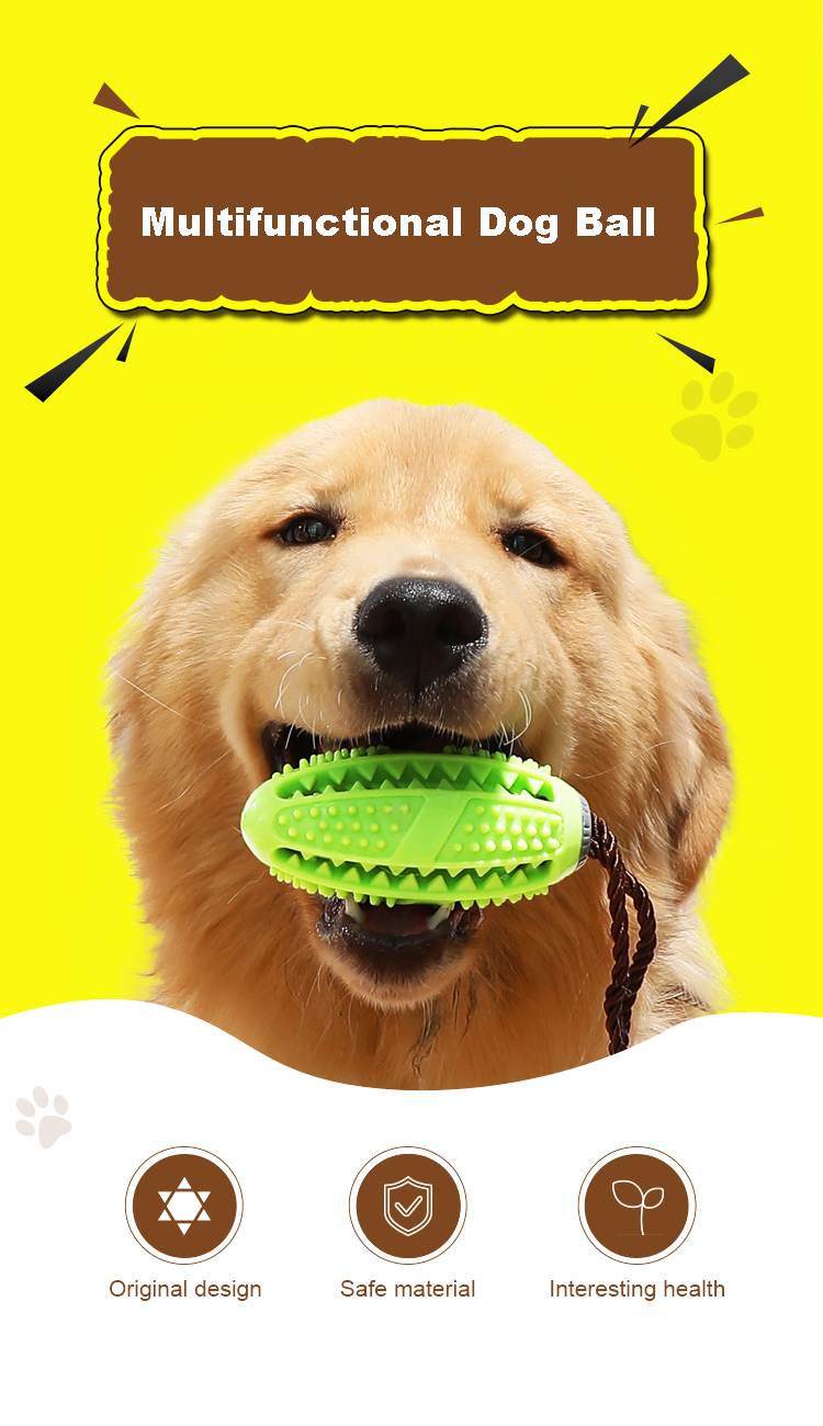 2019 Amazon Natural Rubber Durable Bite Resistant Dog Chew Toy Dog Toothbrush Stick for Pet