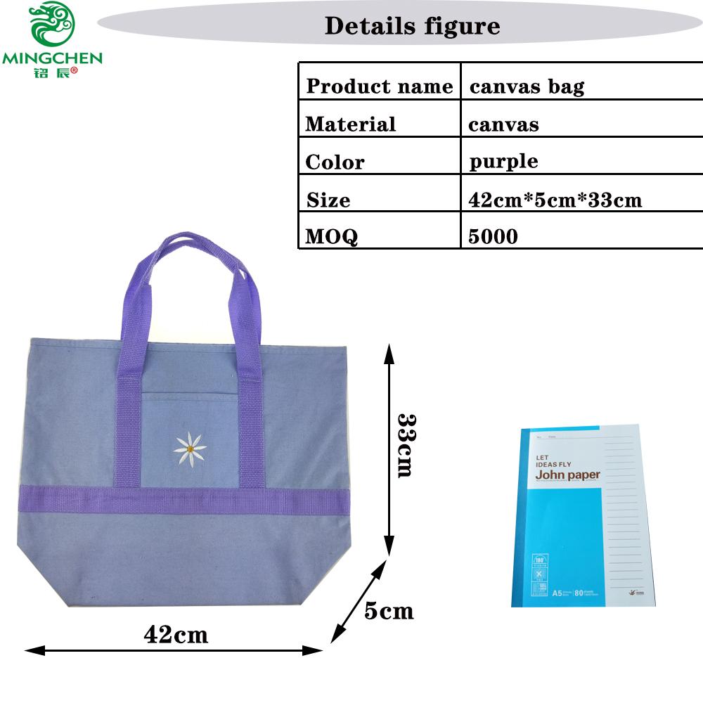 Novo saco de lona de grande capacidade simples bolsa lona ocasional