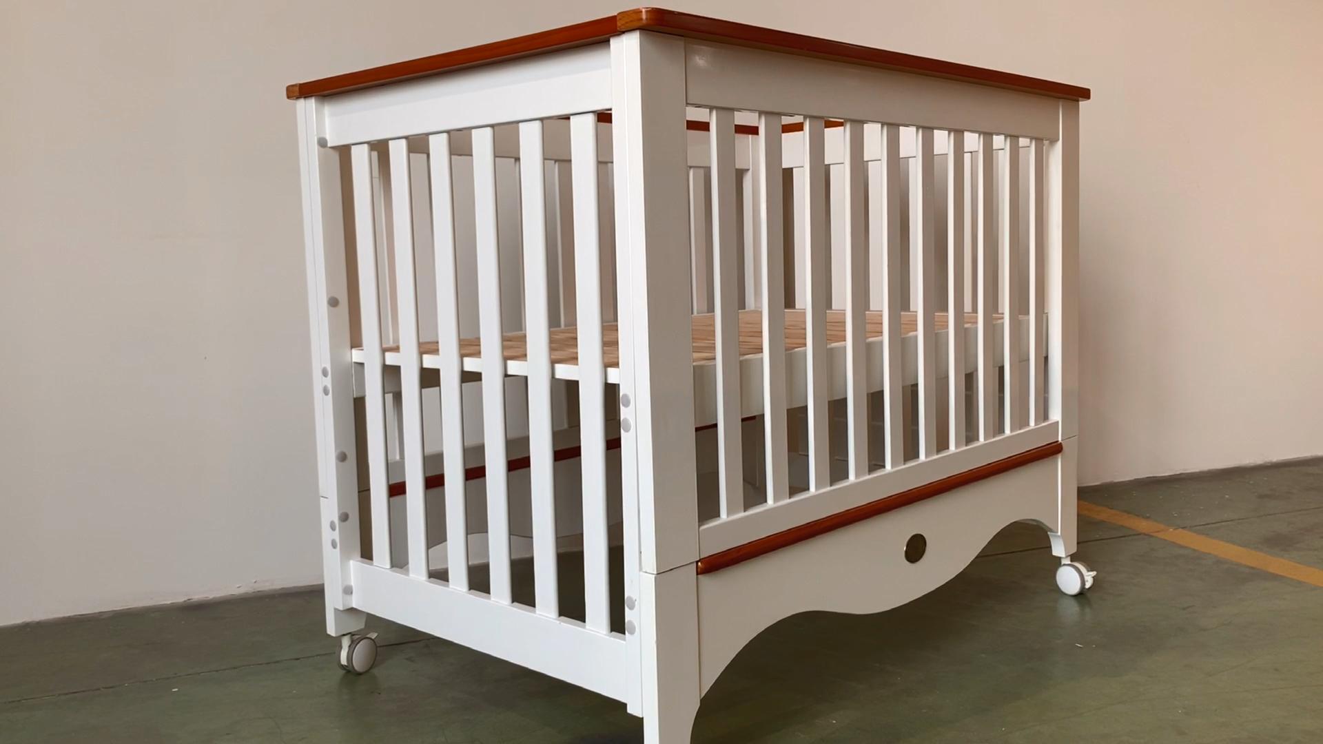 Yeni tip çok fonksiyonlu yeni zelanda çam ahşap bebek beşiği/bebek beşik/bebek yatağı için yeniden doğmuş bebek